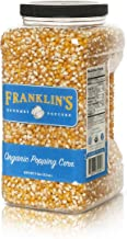 Franklin's Organic Popping Corn (7 lbs). Make Movie Theater Popcorn at Home.