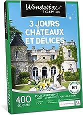 Wonderbox - Coffret cadeau - 3 JOURS CHÂTEAUX ET DÉLICES - séjours de charme en châteaux, hotels 3* et 4*, manoirs, belles demeures en France et en Europe