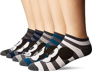 Disney Men's Classic 5 Pack No Show Socks