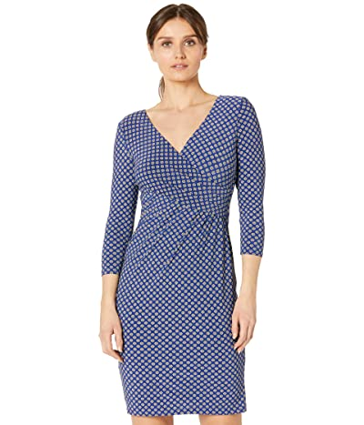 LAUREN Ralph Lauren Petite Floral Jersey Surplice Dress Women