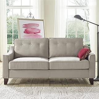 REALROOMS Cherri Mid-Century Modern Sofa, Living Room Couch, Beige