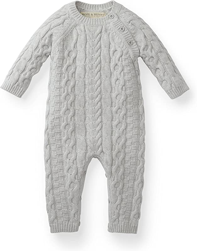 Hope Henry Layette Cable Knit Sweater Romper