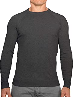 CC Perfect Slim Fit Crew Neck Sweaters for Men | Lightweight Breathable Mens Sweater | Soft Fitted Pullover for Men