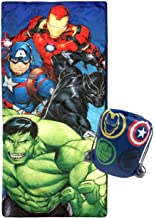 Jay Franco Marvel Avengers Battle Formation Slumber Sack - Cozy & Warm Kids Lightweight Slumber Bag/Sleeping Bag - Featuri...