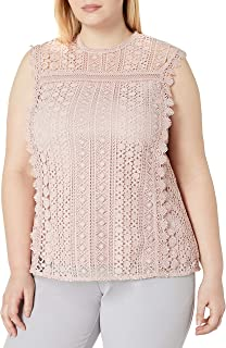 City Chic Women's Apparel Women's Plus Size Lace Overlay top