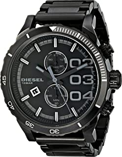 Diesel Men's DZ4326 Double Down Series Analog Display Analog Quartz Black Watch