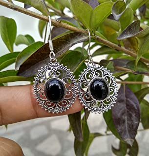 Black Onyx Earrings, 925 Sterling Silver, Assuredly Earring, Exquisite Traditional Jewelry, Rare Earrings, First Impression Jewelry, Beautiful Piece Earrings, Mother Day Gift Jewelry, Branded Jewelry