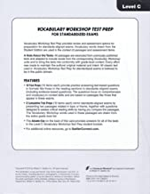 Answer Key for Vocabulary Workshop Test Prep for SAT and ACT Exams LEVEL C