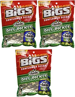 BIGS Vlasic Dill Pickle Sunflower Seeds, 5.35-ounce Bags (Pack of 3)