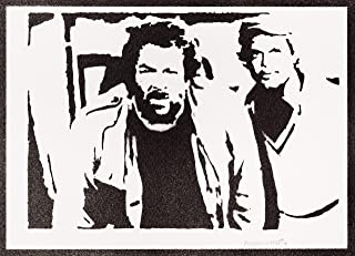 Poster Bud Spencer e Terence Hill Handmade Graffiti Street Art - Artwork