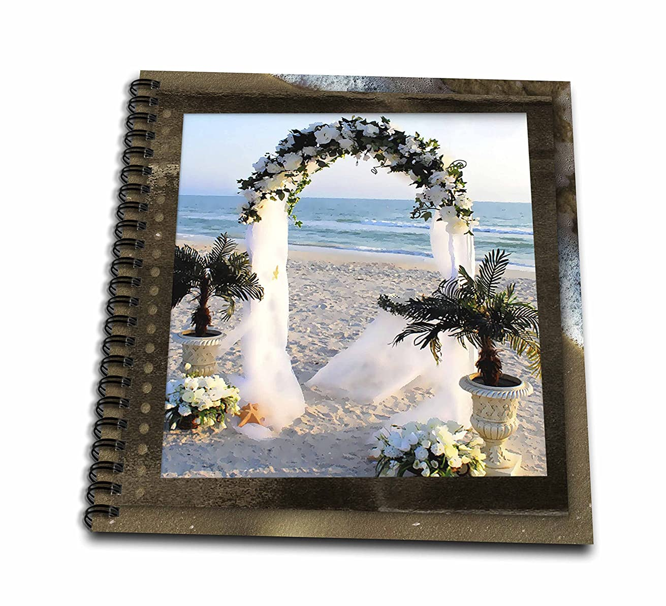 3dRose db_21320_2 Wedding at The Beach Memory Book, 12 by 12-Inch