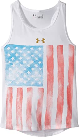 Watercolor Flag Tank Top (Little Kids)