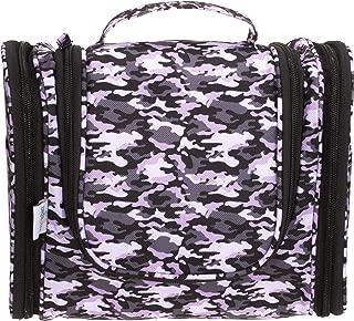 DMJSL Medium Hanging Ladies Toiletry Travel Bag,Toiletry Bag for Women-Heavy Duty Portable Travel Makeup Cosmetic Case, Travel Bag Organizer Toiletry TSA Approved (Camo Print)