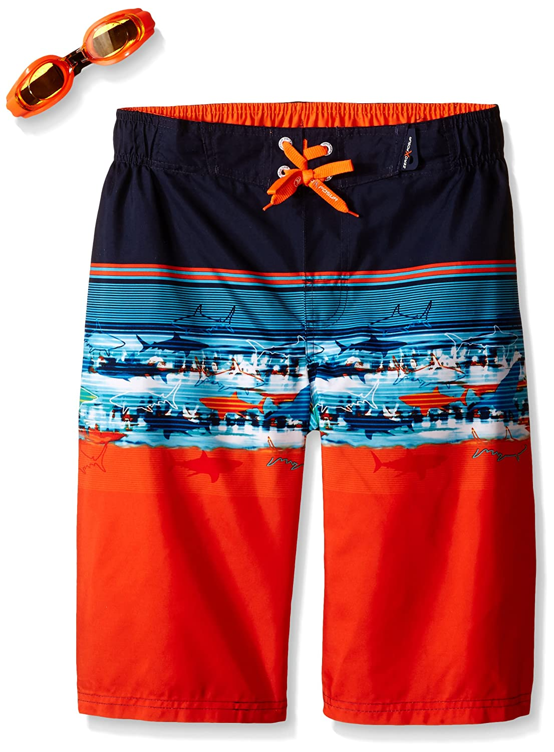 ZeroXposur Boys ' Bahama Stripe Swim Trunk
