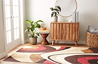Best burgundy and tan area rugs Reviews