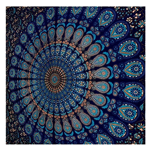 a9a59bda57b0a Tapestry Blue Mandala Wall Tapestry Hangings Boho Wall Tapestry Hippy Wall  Decor Indian Wall Tapestry for
