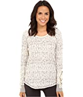 P.J. Salvage - Teeny Tipi's Thermal Crochet Long Sleeve Top