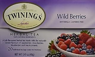 Twinings Herbal Wild Berries Bagged Tea, 20 Count