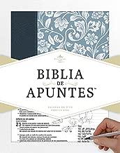 RVR 1960 Biblia de apuntes - Azul - Piel genuina y tela impresa (Spanish Edition)