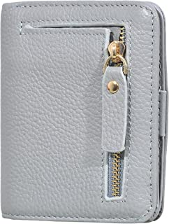 Easyoulife Women's Small Compact Bifold Wallet Genuine Leather Pocket Wallet