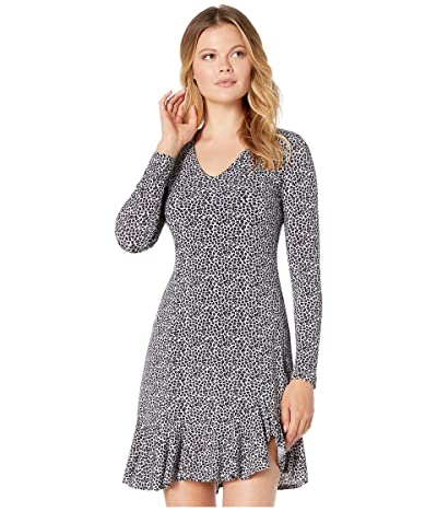 Karen Kane Long Sleeve Sienna Dress (Gray) Women