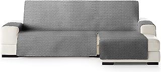 comprar comparacion Funda Cubre Sofá Chaise Longue ELENA, protector para Sofás Acolchado Brazo Derecho. Tamaño -290cm. Color Gris 06 (VISTO DE...