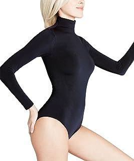 FALKE Damen Body Rich Cotton - Baumwollmischung, 1 Stück, Versch. Farben, Größe XS-XL - Nahtlose Verarbeitung, eleganter Stehkragen