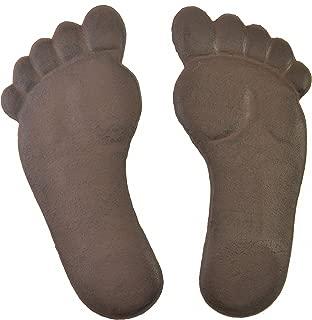 Import Wholesales Human Footprint Stepping Stone Set Cast Iron Yard & Garden Feet Flagstones Rust Brown