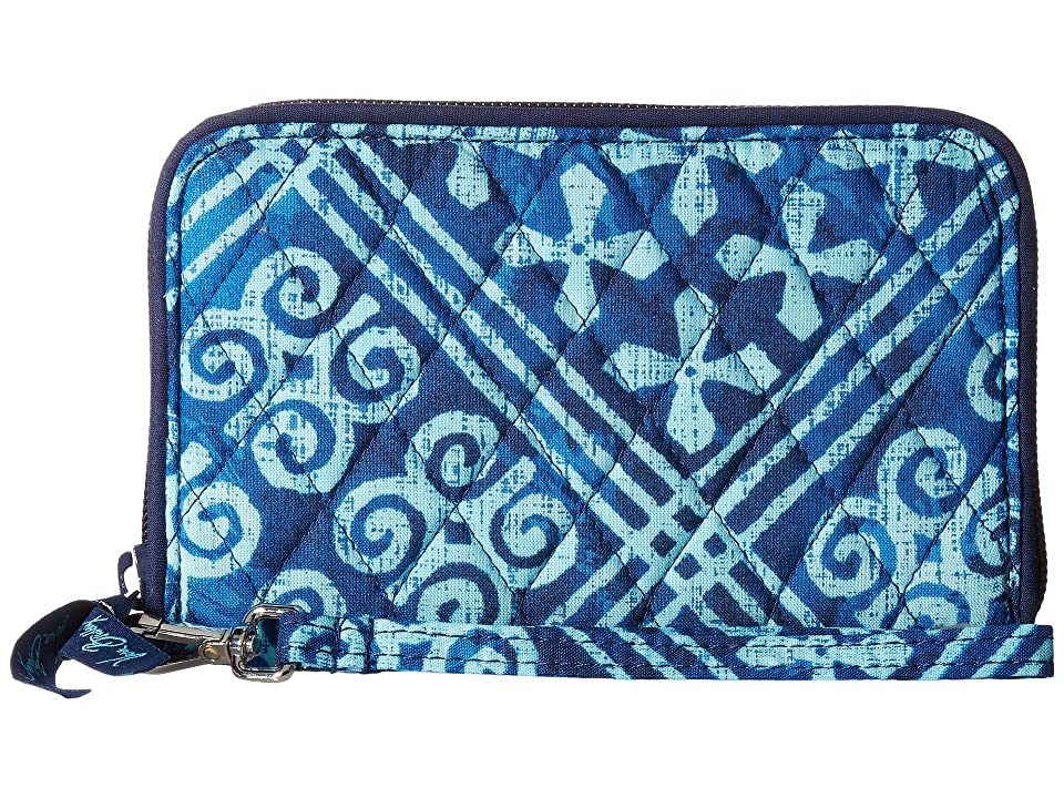 Vera Bradley RFID Grab Go Wristlet (Cuban Tiles) Wristlet Handbags