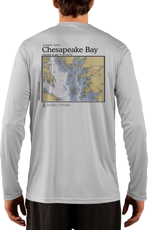 Coastal Classics Chesapeake half Bay Nautical UV 50+ Men's UPF Chart New popularity
