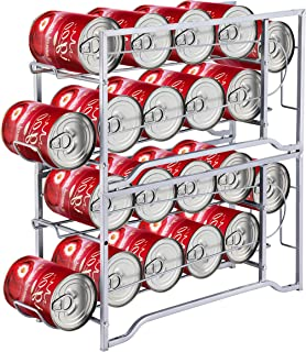 Simple Trending 2-Pack Soda Can Beverage Dispenser Rack, Stackable Can Storage Organizer for pantry or Refrigerator- Dispe...