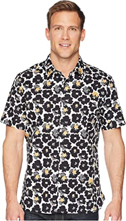Perry Ellis - Short Sleeve Modern Floral Shirt