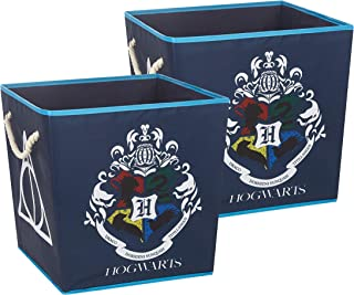 Harry Potter Square Storage Bin with Handles, Set of 2, Multi