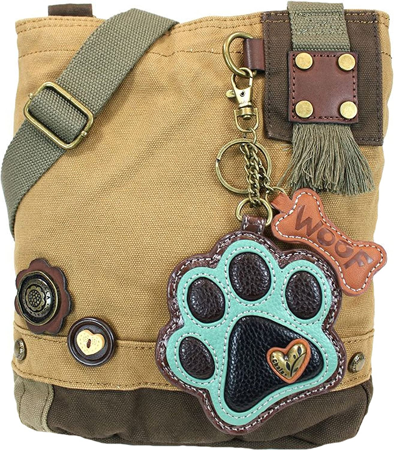 Chala Paw Print Patch Crossbody Handbag