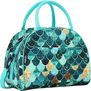 ARTOVIDA Uptown Collection | Premium Extra Large Neoprene Lunch Bag Purse with Shoulder Strap & Pockets | Reusable Insulated Tote for Women, Work School | Monika Strigel from Germany - Really Mermaid