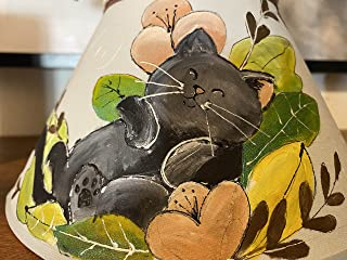 Paralume dipinto a mano gatto