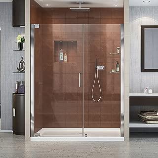 DreamLine Elegance 58-60 in. W x 72 in. H Frameless Pivot Shower Door in Chrome, SHDR-4158720-01