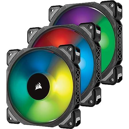 Corsair ML120 PRO 120mm Premium Magnetic Levitation RGB LED PWM Fan with Lighting Node 3 Pack,CO-9050076-WW