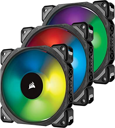 Corsair ML120 PRO 120 mm Premium Magnetic Levitation RGB LED PWM Fan with Lighting Node 3 Pack (CO-9050076-WW)