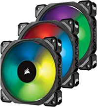 Corsair ML120 PRO 120mm Premium Magnetic Levitation RGB LED PWM Fan with Lighting Node 3 Pack,CO-9050076-WW