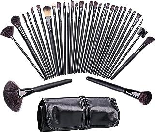 comprar comparacion Brochas de maquillaje,Tintec Juego de brochas de maquillaje,Adecuado para maquillaje diferente (32 piezas, incluye funda d...