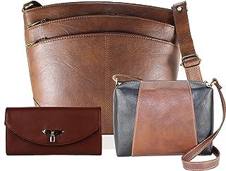Fargo Women's Shoulder Bag With Sling Bag & Clutch (Set of 3)