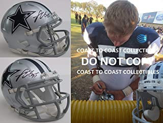 Leighton Vander Esch Dallas Cowboys signed autographed mini football helmet, COA with proof