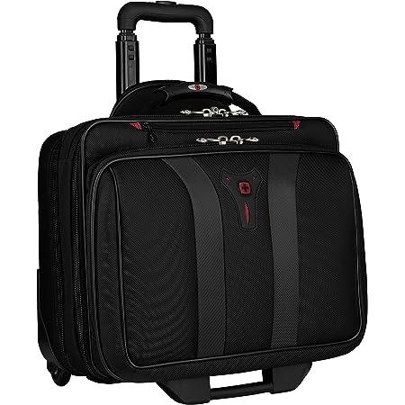 Wenger 600659 Granada 17 Laptop Trolley Gepolsterte Laptoptasche Mit Rollen Und Übernacht Fach Schwarz Grau 24 Liter Koffer Rucksäcke Taschen
