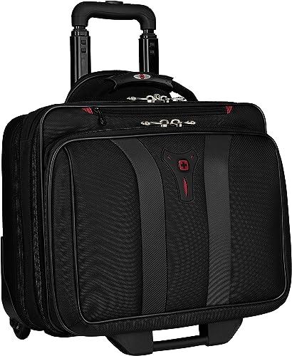 """Wenger 600659 GRANADA 17"""" à roues - Compartiment pour ordinateur portable rembourré avec compartiment - noir la nuit ..."""