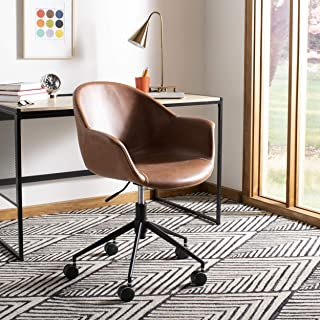 Safavieh OCH7002B Home Collection Ember Light Brown and BlackOffice Desk Chair, Black