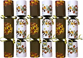 Iconikal 9-inch Thanksgiving No-Snap Non-Popping Party Table Favor, Autumn Leaves, 6-Pack