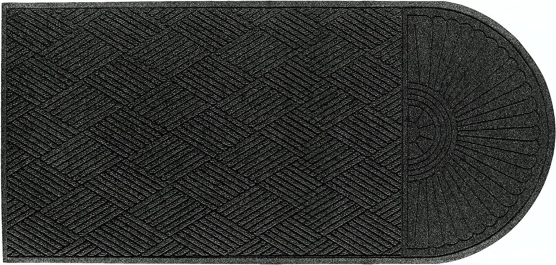 Andersen 273 Waterhog Grand Classic Polypropylene Fiber Single End Entrance Indoor Outdoor Floor Mat, SBR Rubber Backing, 5.9-Feet Length X 4-Feet Width, 3 8-Inch Thick, Charcoal