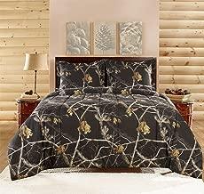 Realtree APC 3 Piece Comforter Set, King, Bright Black