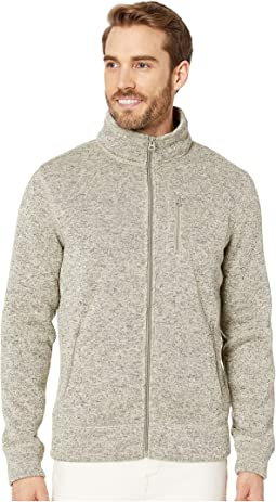 Fleece Full Zip Mock Neck Sweatshirt